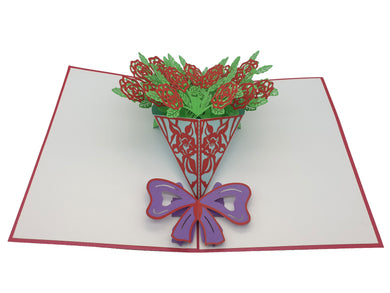 Bunch of Flowers Pop Up Card