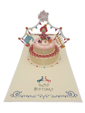 3D Pop Up Circus Happy Birthday Card