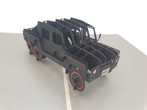 3D Truck 4x4 Pop Up Card