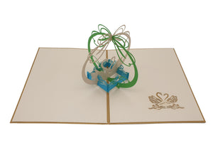Love Swans 3D Pop Up Card