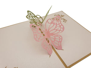 3D Butterfly's Pop Up Card