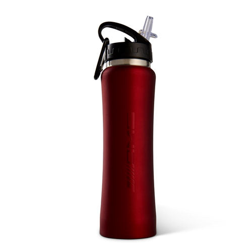 AMG 26oz Stainless Sport Bottle with Straw Red