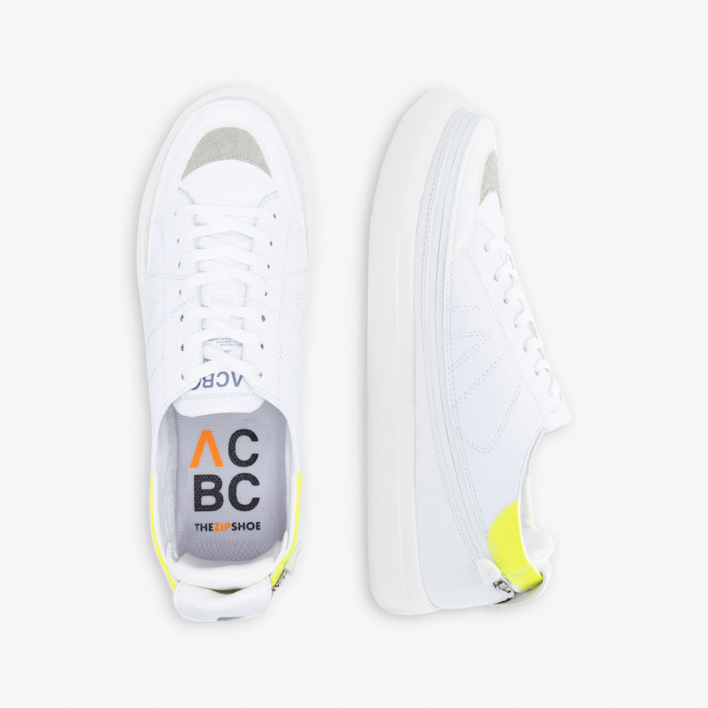 Skin Tennis Court White & Acid Yellow