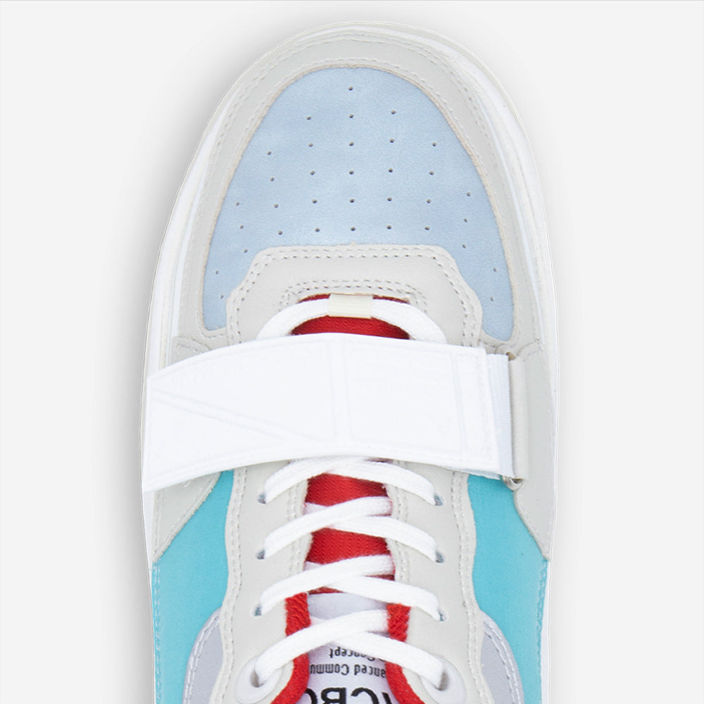 Sonica White + Ultra BABY BLUE&RED With STRAP RED