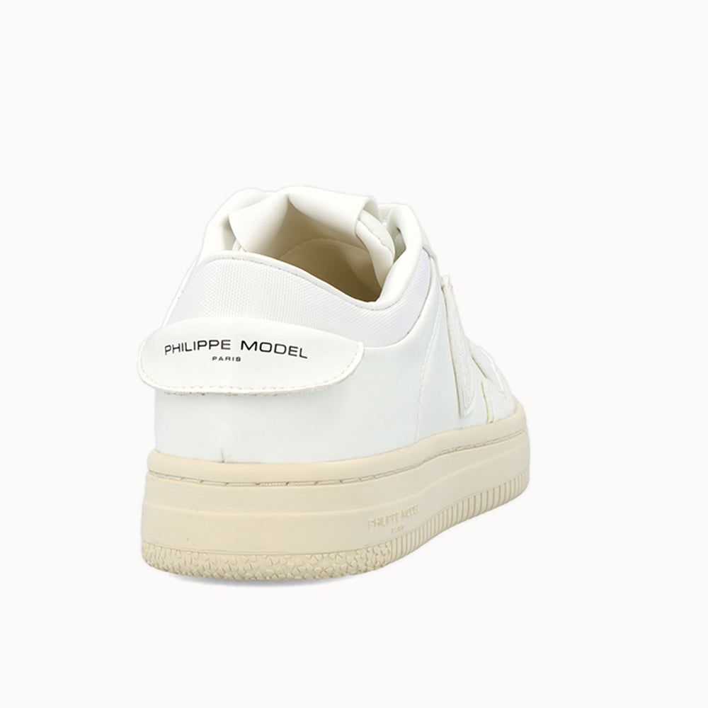 "Load image into Gallery viewer, ""Philippe Model Paris"" written on the back and the tongue of the Eco-Sustainable Shoe"