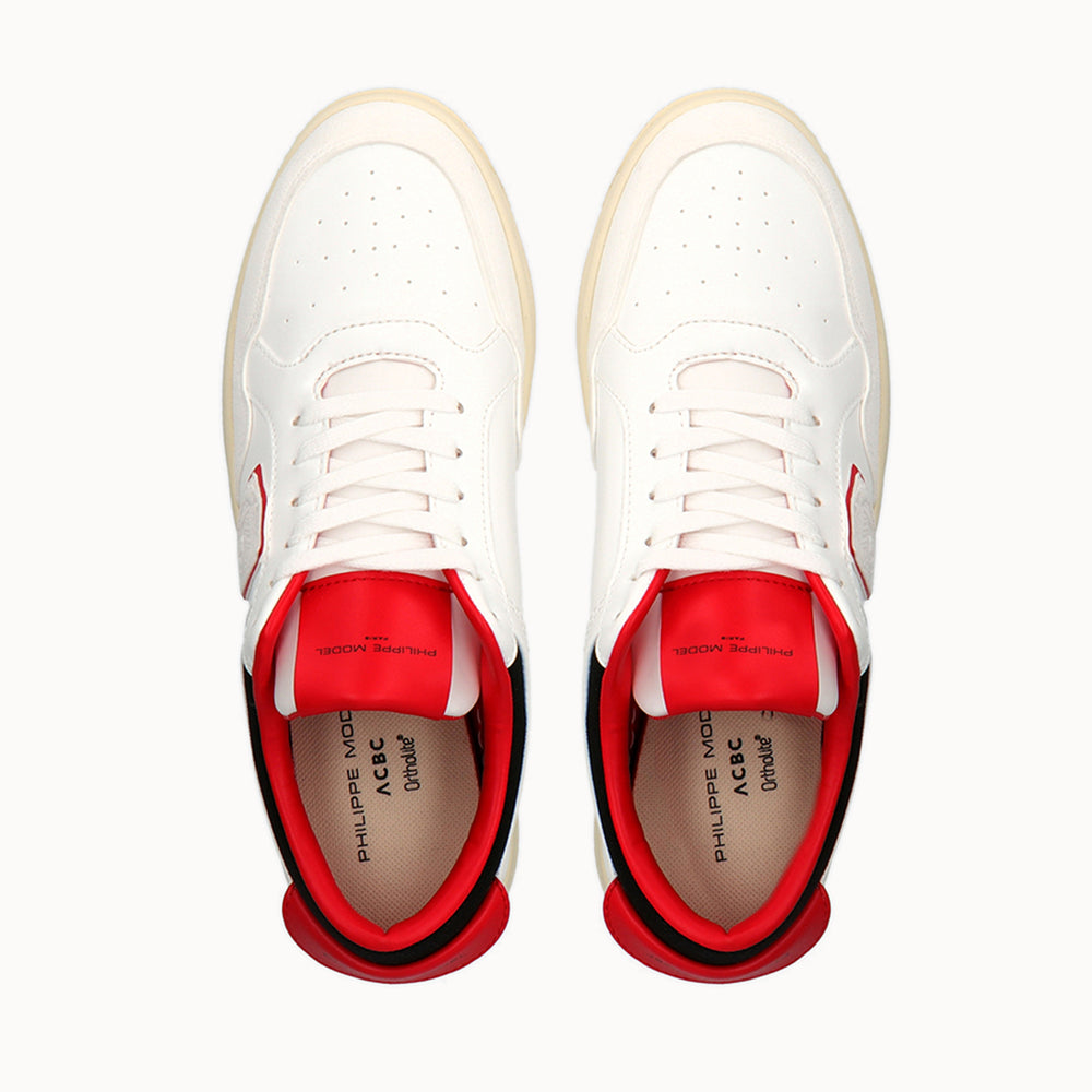 Philippe Model Lyon White and Red Corn Skin - ACBC Eco-Sustainable Shoes