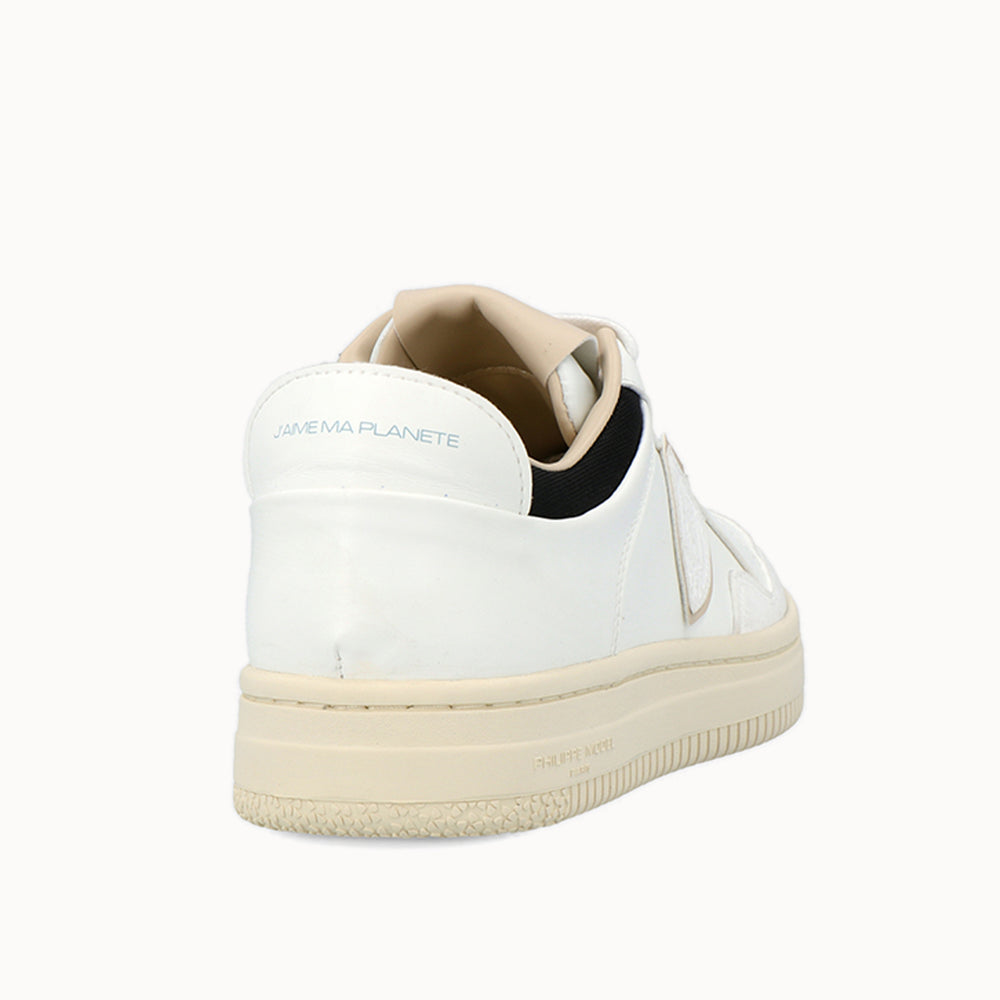 Load image into Gallery viewer, White color with beige and black details ACBC Eco-Sustainable Shoes