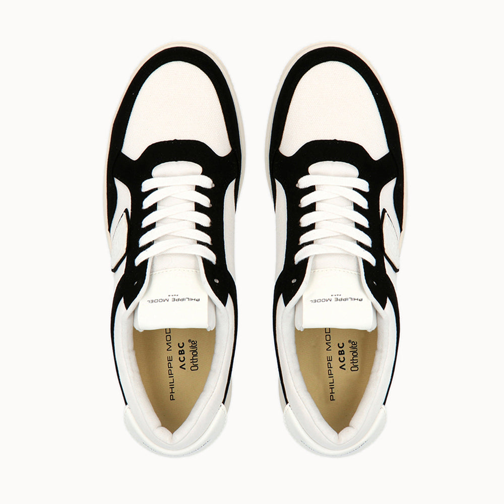 Philippe Model Lyon White&Black GOTS Cotton with  ACBC Sustainable Shoes