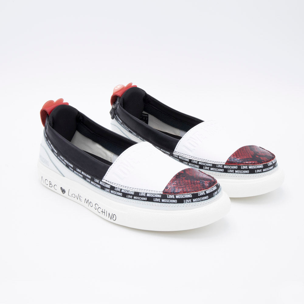Load image into Gallery viewer, ACBC x LoveMoschino Espadrilla White