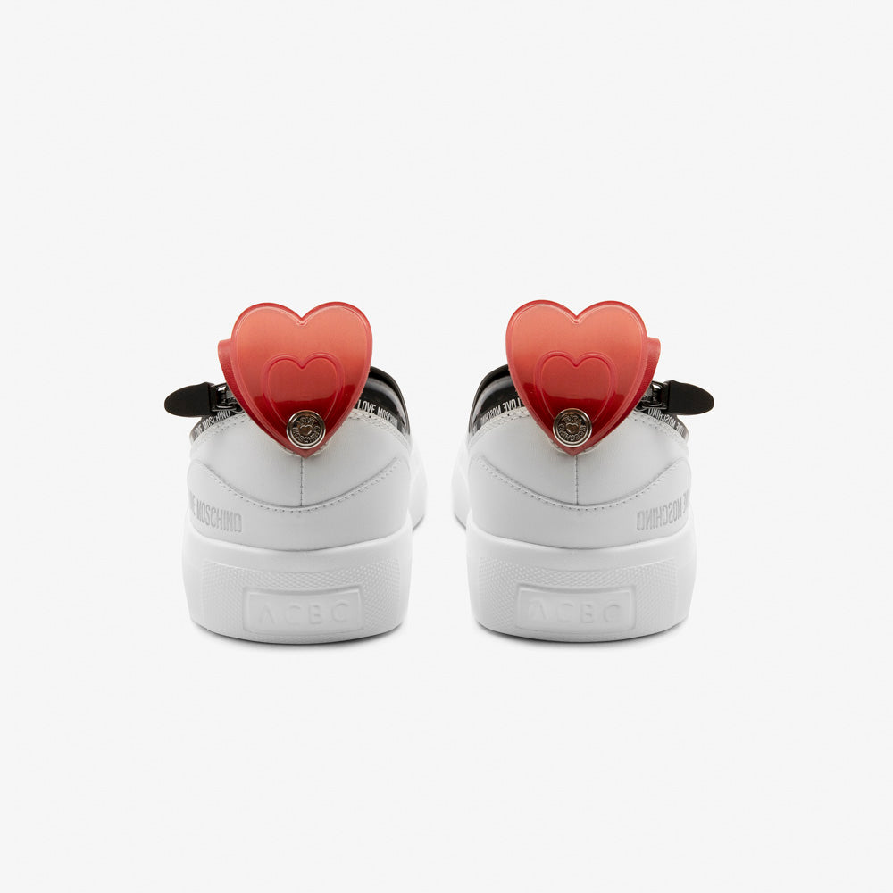 Load image into Gallery viewer, Love Moschino red heart on the heel - ACBC Zip Shoes