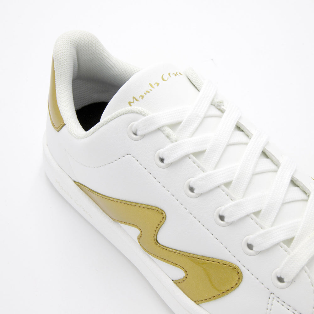 White with golden details of Manila Grace and ACBC Sustainable Shoes