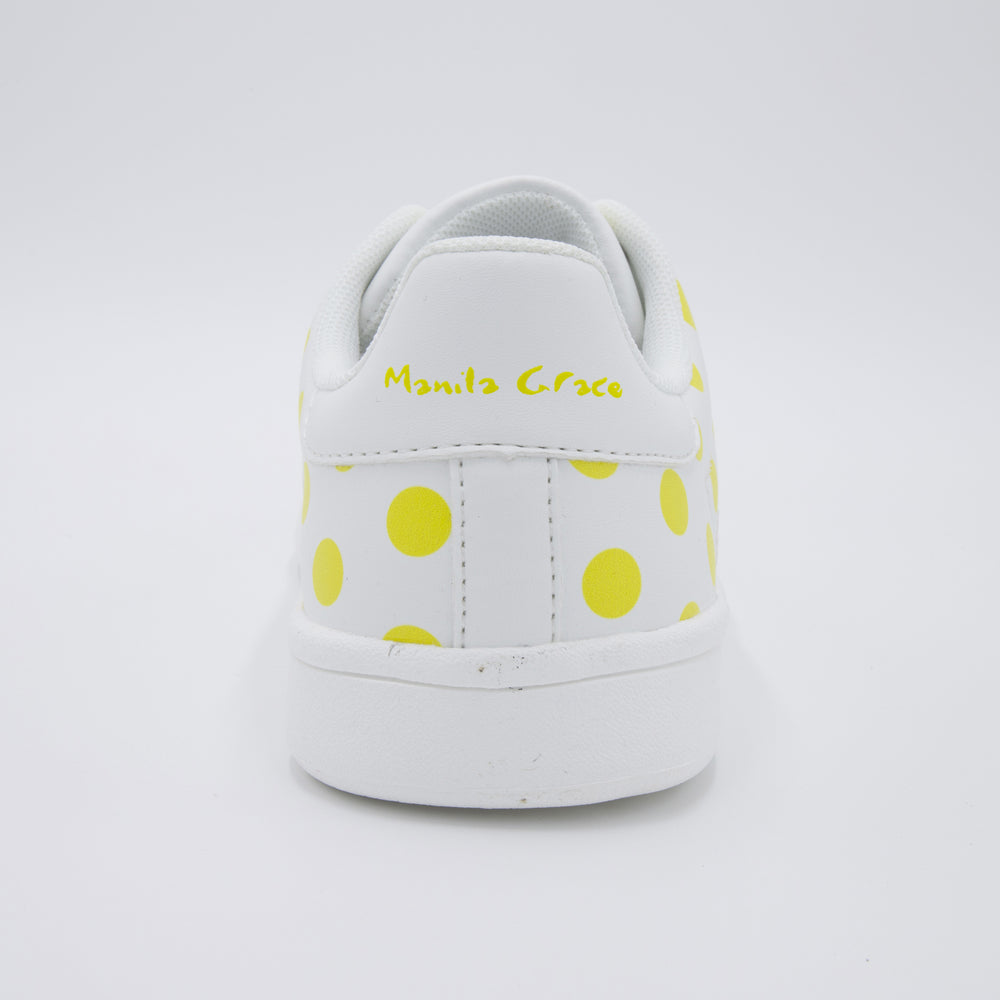 "Load image into Gallery viewer, ""Manila Grace"" written on the back, the sides of the sole, and the tongue"