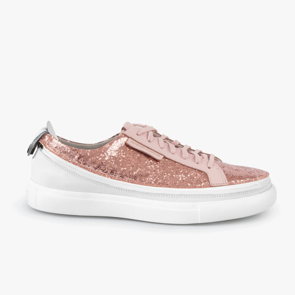 Load image into Gallery viewer, Urban Bianca + Sneaker Glitter Rosa