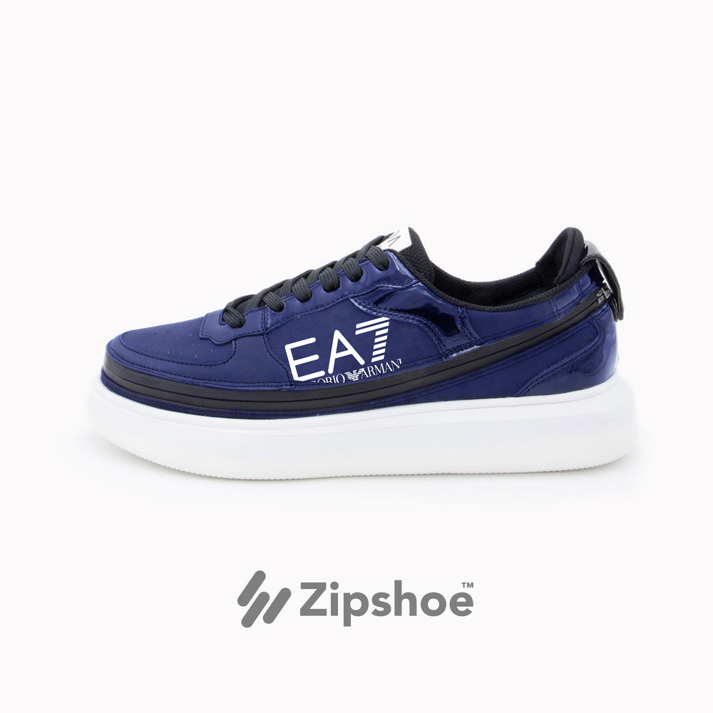 EA7 Blue Zip Sneakers