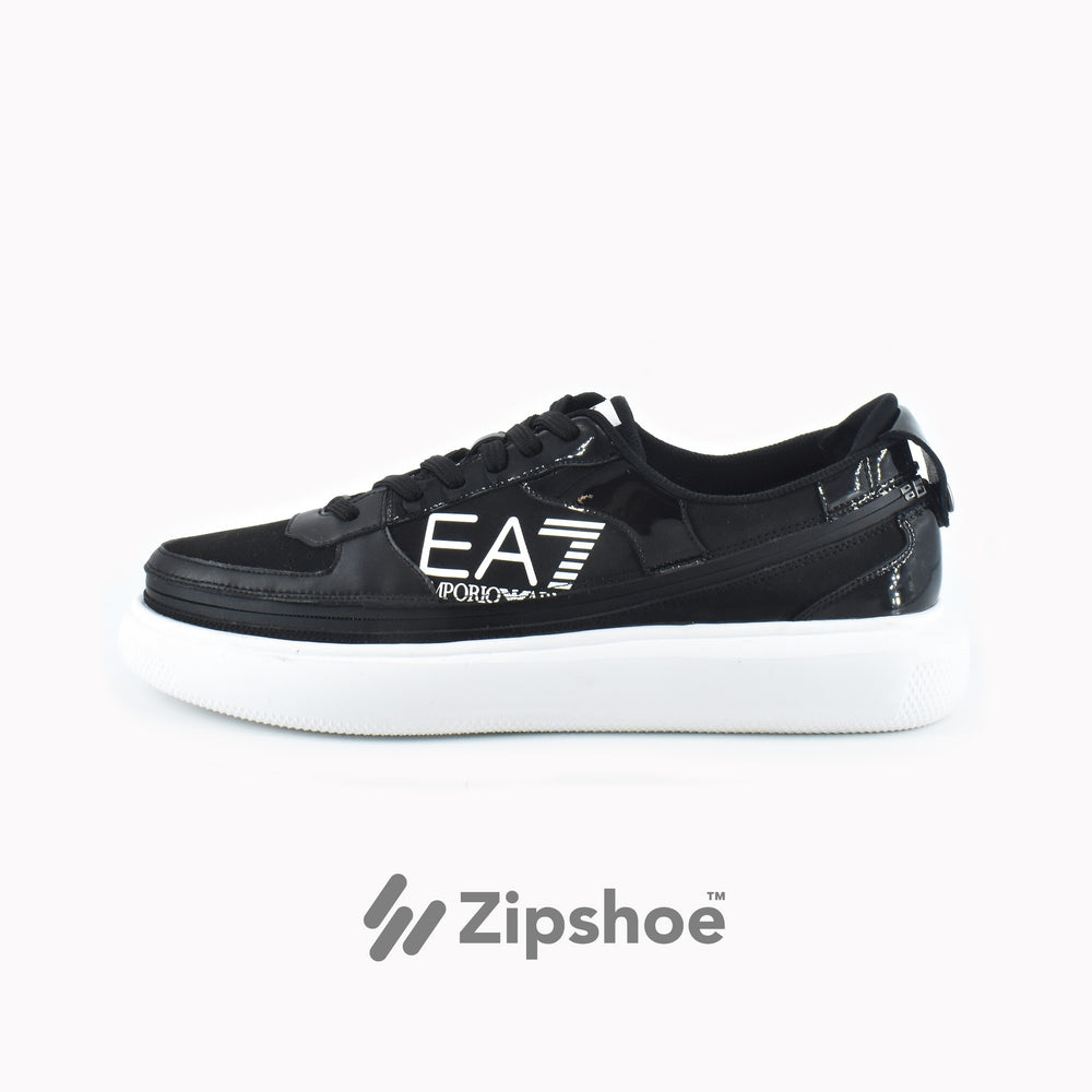 EA7 Black Zip Sneaker - ACBC Sustainable Shoes