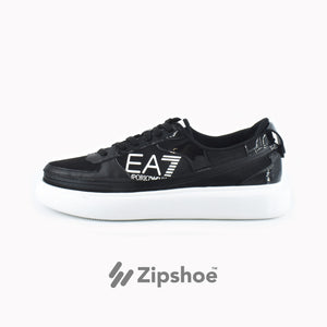 Load image into Gallery viewer, EA7 Black Zip Sneaker - ACBC Sustainable Shoes