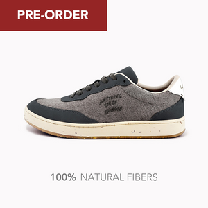 Load image into Gallery viewer, Evergreen Black Natural Linen Skin - ACBC Vegan Shoes