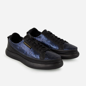 Load image into Gallery viewer, Urban Nera + Sneaker Glitter Blu