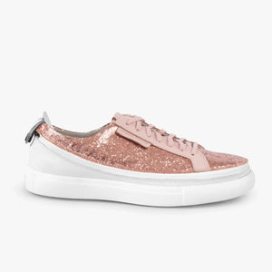 Load image into Gallery viewer, Skin Sneaker Rose Glitter