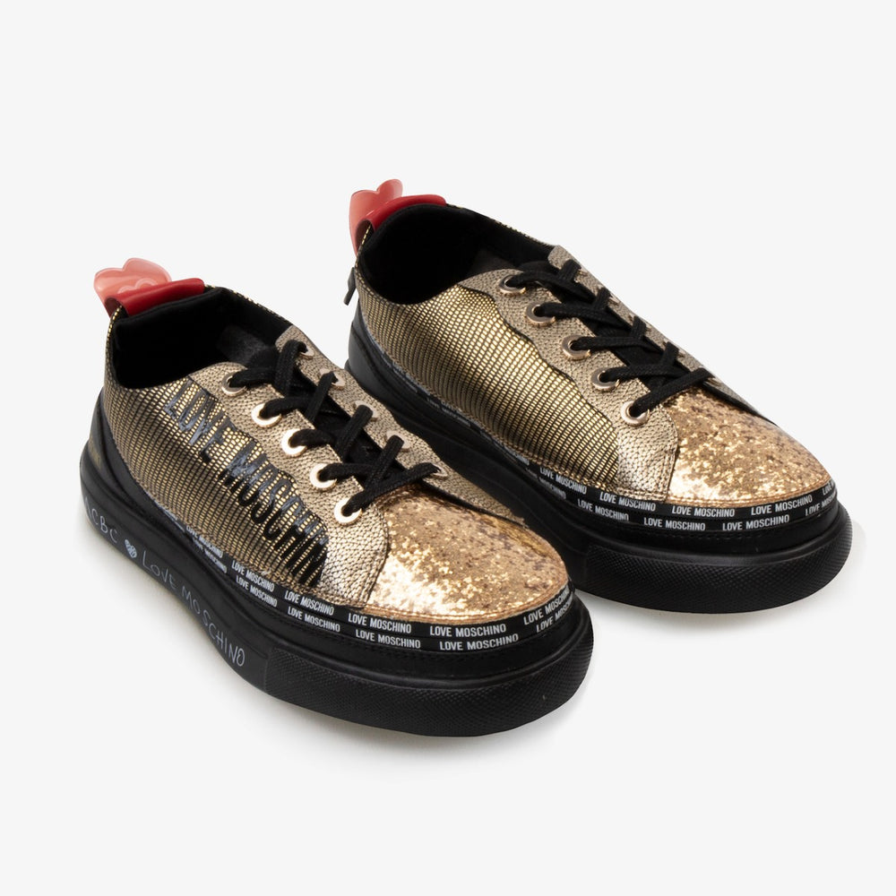 Load image into Gallery viewer, Love Moschino Sneaker Gold with ACBC