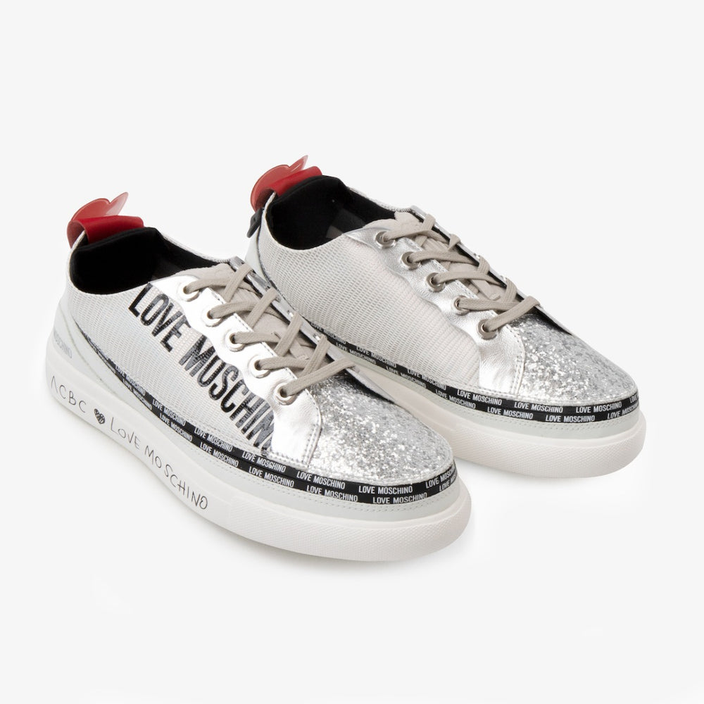 Love Moschino Sneaker Silver - modular women's shoes