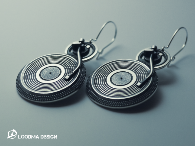 Turntable Earrings