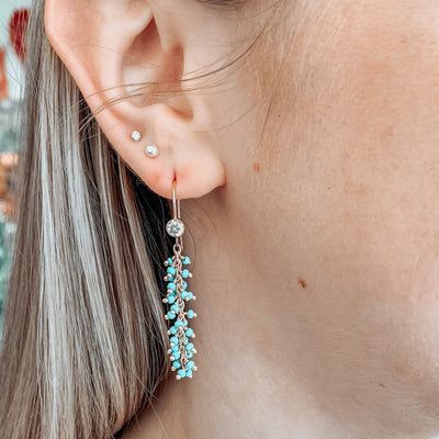 Turquoise Tailfeather Earrings
