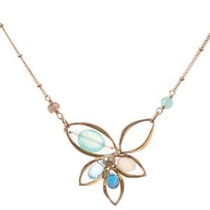 Elisa Lotus Necklace-Anna Balkan