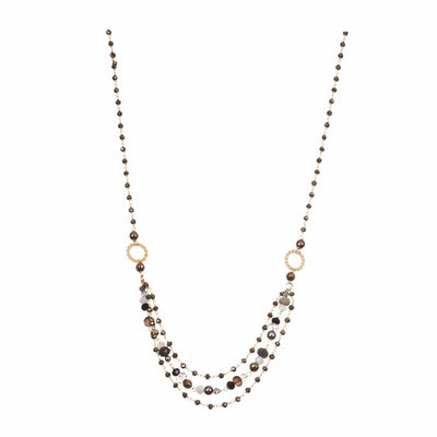 3 Tier Classic Drape Necklace-Anna Balkan