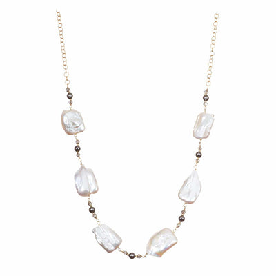 Baroque Pearl Statement Necklace-Anna Balkan