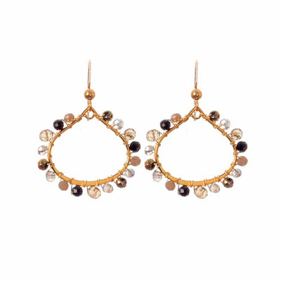 Lily Mini Petal Hoop Earrings-Anna Balkan