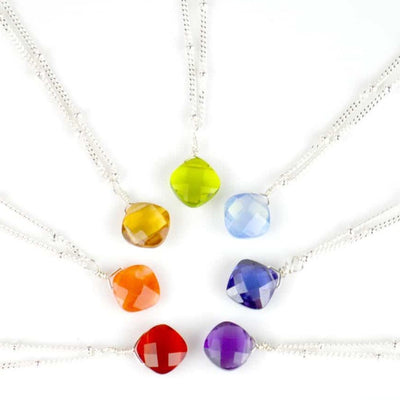 Kylie Single Gem Necklace-Anna Balkan