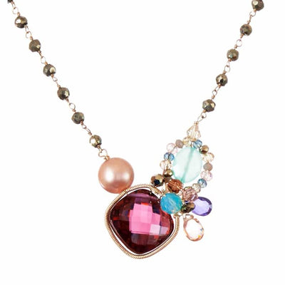 Nellie Signature Gemstone Necklace - Anna Balkan