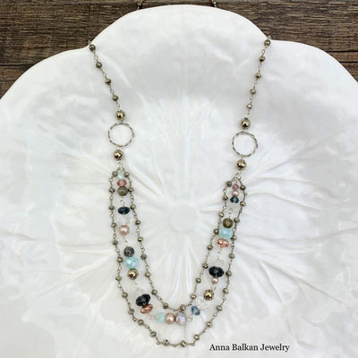 3 Tier Classic Drape Necklace - Anna Balkan