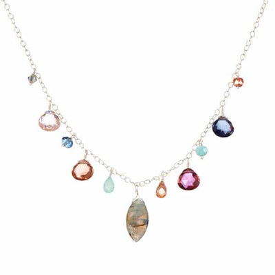 Instant Classic New Zina Necklace with Marquee Gem - Anna Balkan