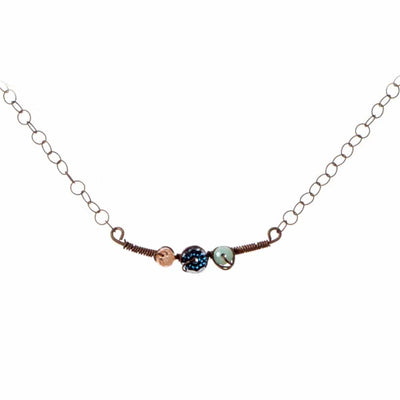 Oxidized Minimalistic Samantha Style Necklace-Anna Balkan