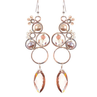 Large Statement Bubbles and Marquee Gem Earrings-Anna Balkan