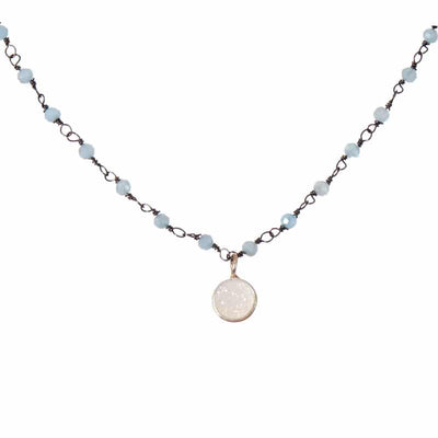 Dot Druzy Gem Necklace - Anna Balkan