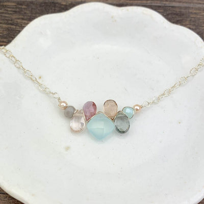Mini Katie Colorful Gem Necklace-Anna Balkan