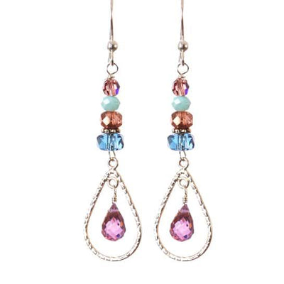 Julie Cage Gem Drop Earrings-Anna Balkan