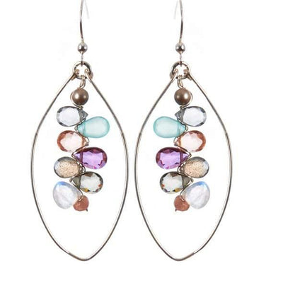 Kaleidoscope Colorful Gems Statement Hoops - Anna Balkan