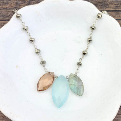 Marquee Katie Colorful Gem Necklace - Anna Balkan
