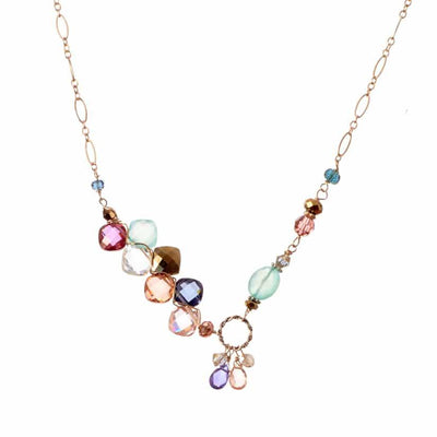 Juno Multigem Unique Necklace-Anna Balkan