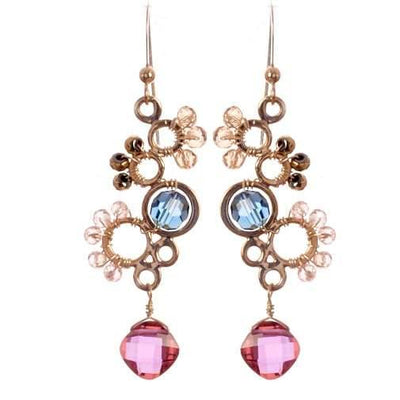 Ivy Bubble Stylish Gems Earrings - Anna Balkan