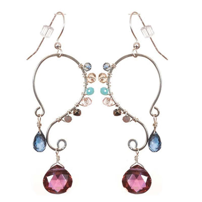 Peyton Swirl Earrings-Anna Balkan