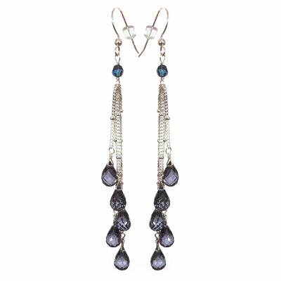 Rain Five Strand Earrings-Anna Balkan
