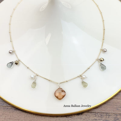 Zina's Classic Gemstone Necklace-Anna Balkan