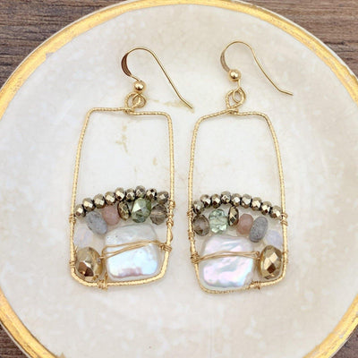 Art in a Frame Earrings-Anna Balkan
