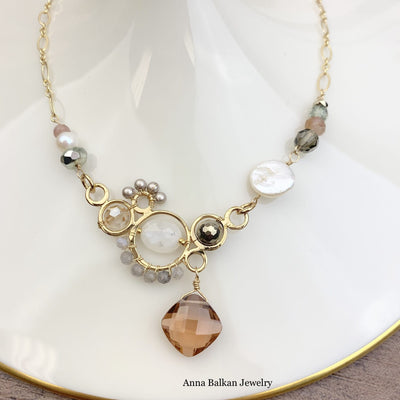 Zoe Large Bubble Necklace-Anna Balkan
