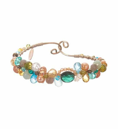 Signature Sheppard's Hook Gemstone Bracelet with Emerald Quartz-Anna Balkan